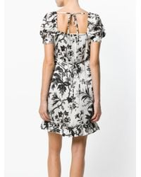 McQ Alexander McQueen - White Floral Embroidered Dress - Lyst