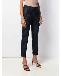 Pantalon à fines rayures et ourlet retroussé P.A.R.O.S.H. en coloris Blue
