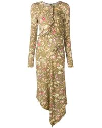 Preen By Thornton Bregazzi Green Floral Print Dress