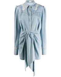 Magda Butrym Blue Fitted Denim Dress
