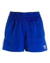 Adidas スリーストライプ ショートパンツ Blue