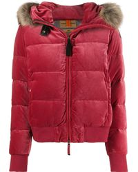 Faux fur trimmed jacket di Parajumpers in Red
