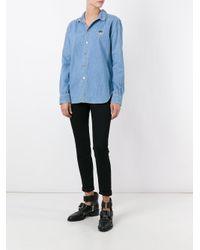 KENZO Blue Mini Tiger Denim Shirt