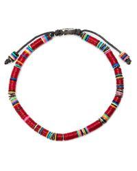 M. Cohen Brown Beaded Bracelet for men