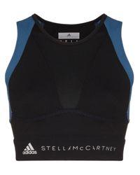 Adidas By Stella McCartney Black X Stella Mccartney Cropped Running Top