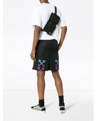 Off-White c/o Virgil Abloh - Black Pantalones cortos de malla con motivo degradado for Men - Lyst