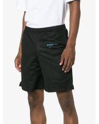 Pantalones cortos de malla con motivo degradado Off-White c/o Virgil Abloh de hombre de color Black
