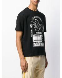 メンズ KENZO Mountain プリント Tシャツ Black