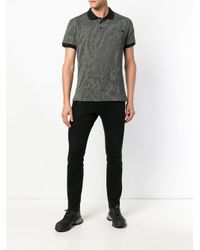 Versace Jeans Gray Textured Polo Shirt for men