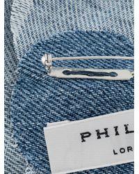 Брошь С Цветочной Вышивкой Philosophy Di Lorenzo Serafini, цвет: Blue