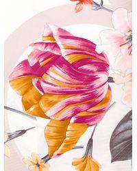 Ferragamo - Pink Gancio Floral Print Scarf - Lyst