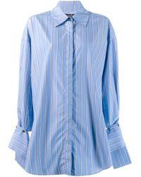 ROKH オーバーサイズ シャツ Blue