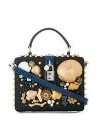 Borsa rigida con applicazioni di Dolce & Gabbana in Multicolor