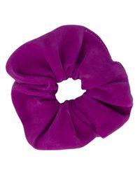 Chouchou en daim Manokhi en coloris Purple