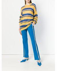 Pantaloni sportivi con bande laterali di N°21 in Blue