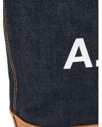 A.P.C. Denim Logo Shoulder Bag Blue