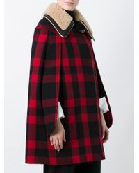 Maison Margiela - Red Checked Short Cape - Lyst