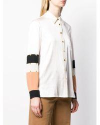 Рубашка В Технике Пэчворк С Заклепками Tory Burch, цвет: Multicolor