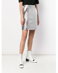 Karl Lagerfeld メタリック ミニスカート Metallic