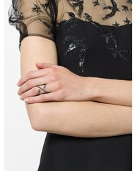 FEDERICA TOSI - Metallic Crystal Embellished Curved Ring - Lyst