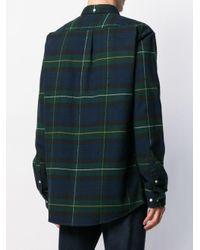 メンズ Barbour Highland チェックシャツ Blue