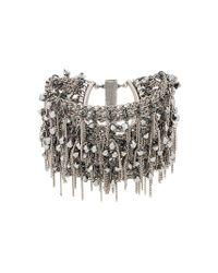 Bracelet manchette à détails de chaînes pendantes Marc Le Bihan en coloris Metallic