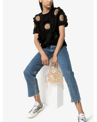 T-shirt a fiori di Viktor & Rolf in Black