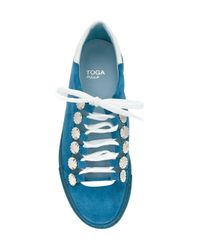 Toga Blue Lace-up Sneakers