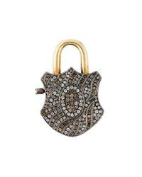 Gemco - Metallic Diamond Padlock Pendant - Lyst