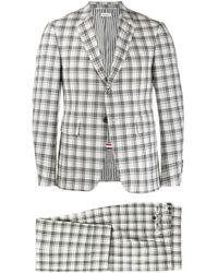 Costume à carreaux Thom Browne pour homme en coloris Gray