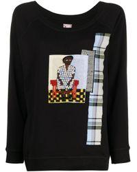 Jersey bordado con motivo patchwork Antonio Marras de color Black