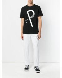 Gosha Rubchinskiy Black P Logo T-shirt for men