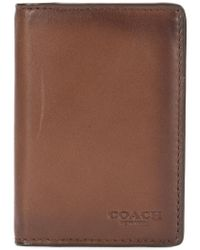 COACH Brown Card Wallet for men