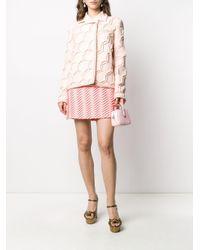Minigonna con ricamo di Marco De Vincenzo in Pink
