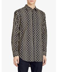 Burberry - Blue Spot And Stripe Shirt for Men - Lyst