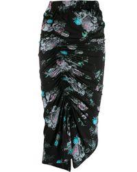 Preen By Thornton Bregazzi Black Becka Floral Draped Skirt