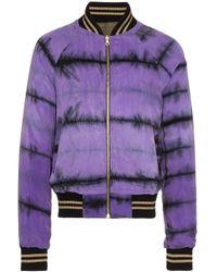 メンズ Amiri リバーシブル ボンバージャケット Purple