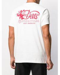メンズ Deus Ex Machina Deville ショートスリーブ Tシャツ White