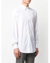 メンズ Dolce & Gabbana リアプリーツ シャツ White