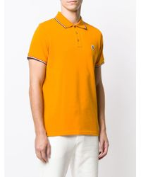 メンズ Moncler ロゴ ポロシャツ Orange