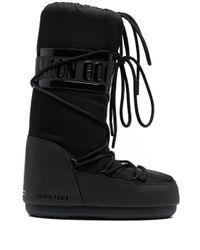 Moon Boot レースアップ スノーブーツ Black