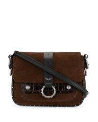 Zadig & Voltaire Brown Kate Stud-embellished Shoulder Bag