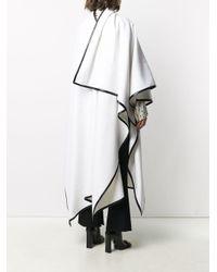 Balmain ウール ケープ White
