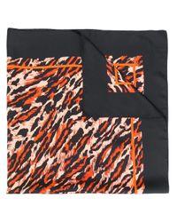 Écharpe à imprimé animalier Sandro en coloris Black