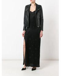 RTA Black Star Print Slip Dress