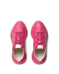 メンズ Gucci Rhyton グッチロゴ スニーカー Pink