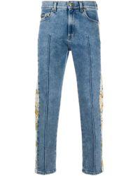 メンズ Versace Jeans バロックプリントトリム ジーンズ Blue