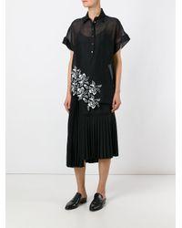 N°21 - Black Asymmetric Pleated Skirt - Lyst