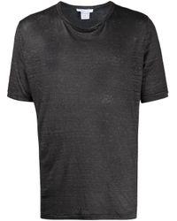 メンズ Avant Toi リネン Tシャツ Black