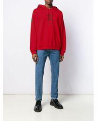 メンズ Versace ロゴ スウェットシャツ Red